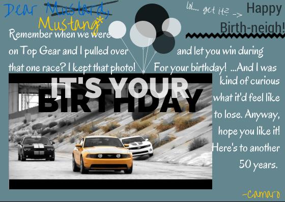Happy Birthday Mustang Jeff Gordon Chevrolet Blog