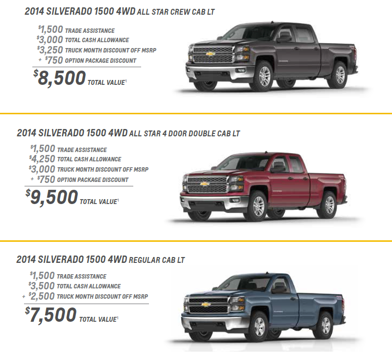 Chevy Truck Month Offers
