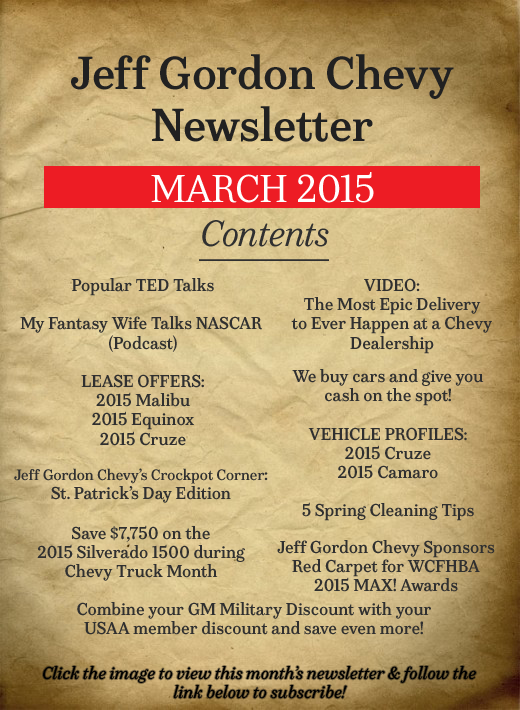 Jeff-Gordon-Chevrolet Newsletter-March 2015