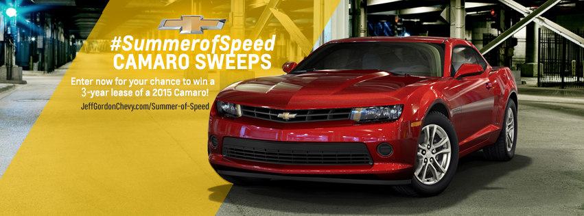 enter to win a free 2015 camaro from jeff gordon chevy jeff gordon chevrolet blog. Black Bedroom Furniture Sets. Home Design Ideas