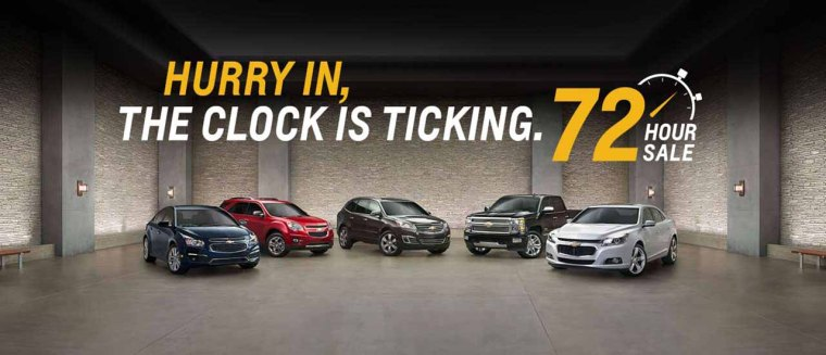 72 Hour Sale - July 2015 - Jeff Gordon Chevrolet
