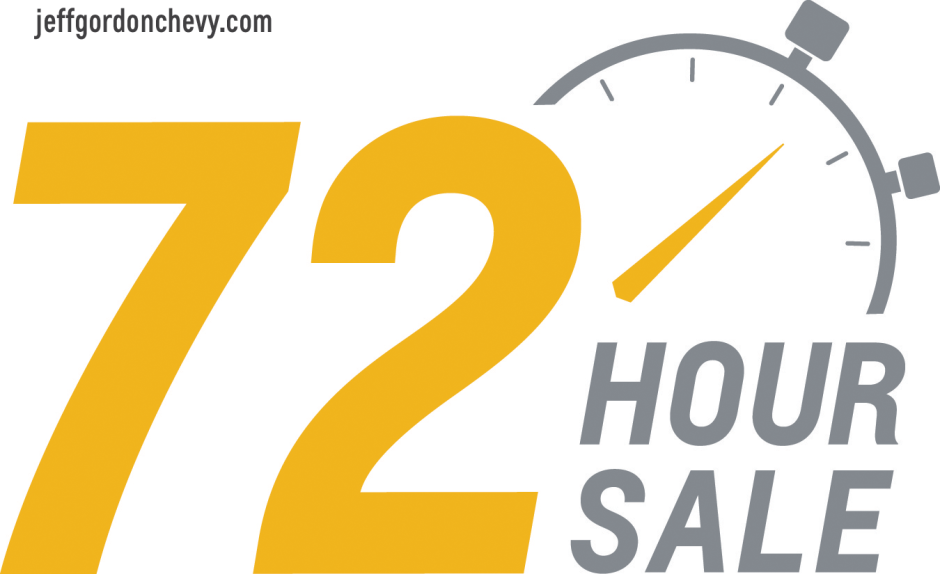 72 Hour Sale - Jeff Gordon Chevrolet Wilmington - July 2015