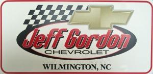 Jeff Gordon Chevy License Plate