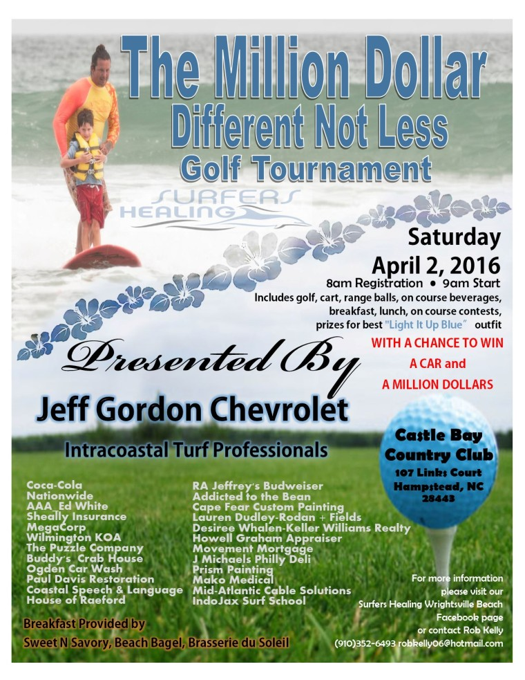 Surfers Healing Million Dollar Golf Tournament April 2nd