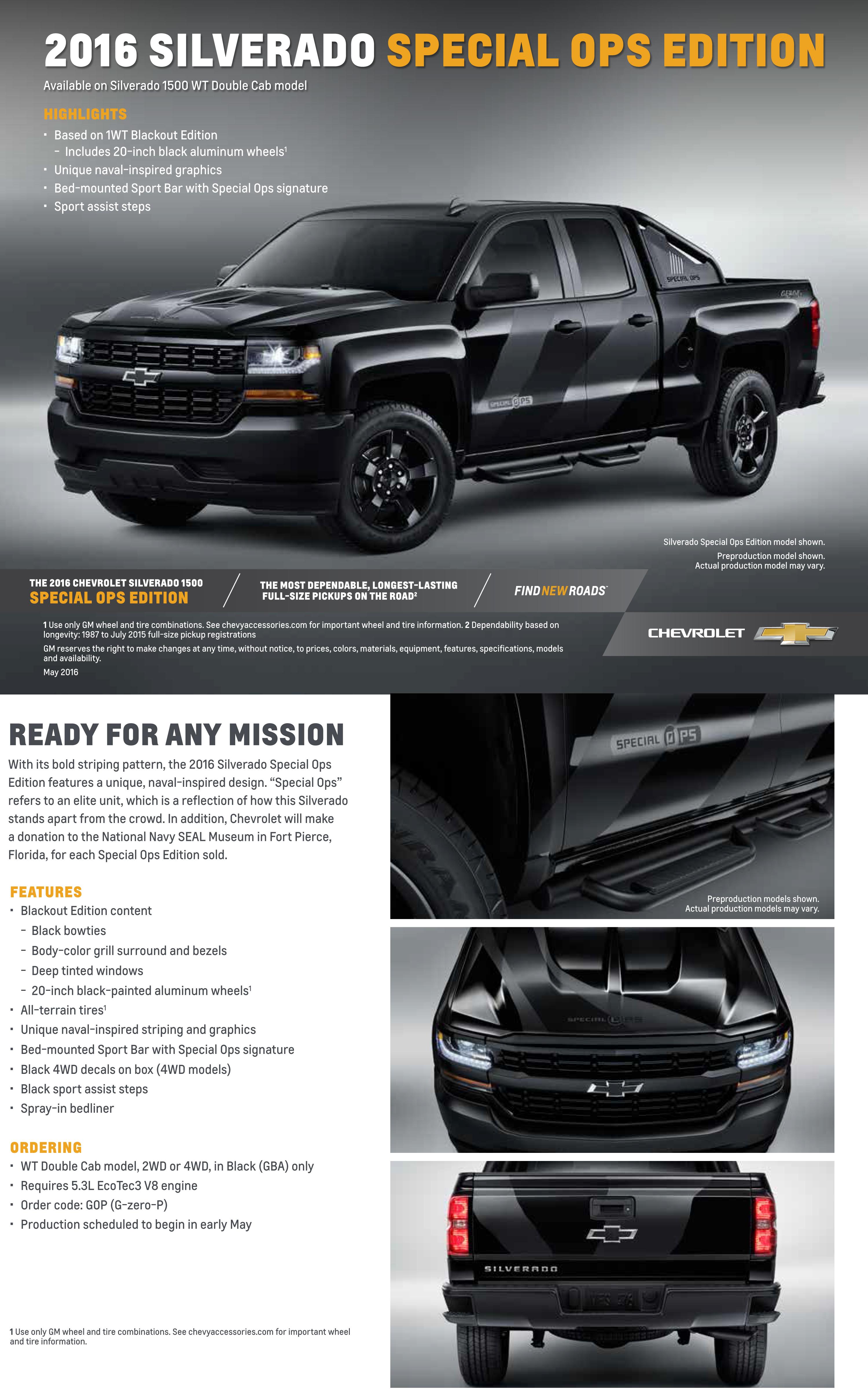 2016 Silverado Special Ops Edition - Jeff Gordon Chevrolet Wilmington NC