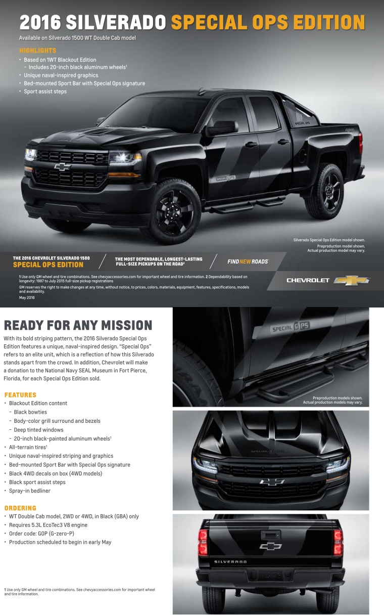 2016 Silverado Special Ops Edition - Jeff Gordon Chevrolet Wilmington NC