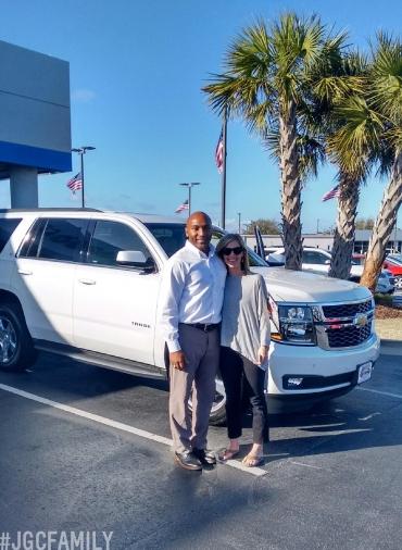 022417 - SW - 2017 Chevrolet Tahoe LT - Iridescent Pearl TriCoat - Jeff Gordon Chevrolet new cars - WIlmington NC - 288118