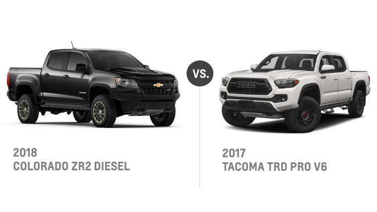 2018 Colorado ZR2 Diesel VS 2017 Tacoma TRD Pro V6 - Summer of Chevy - Jeff Gordon Chevrolet