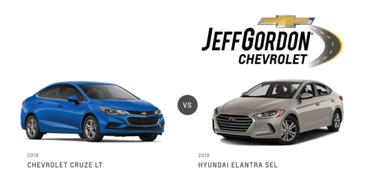 Chevy Cruze VS Hyundai Elantra Jeff Gordon Chevrolet@2x