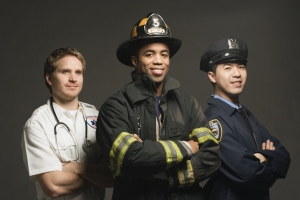 First Responders in UniformImage by � Tom Grill/Corbis